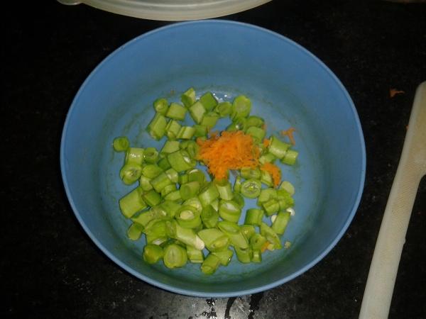Chopped beans