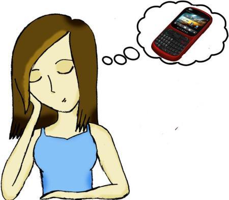 Girl Dreaming of Phone