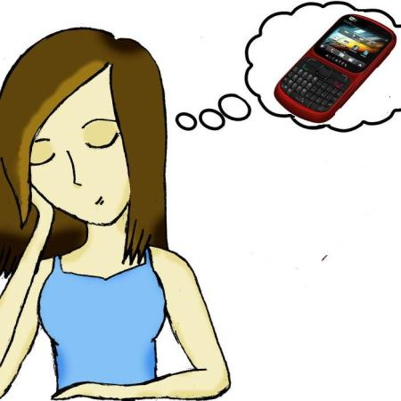 Girl Dreaming of Phone